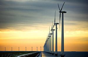 Windmolens bij Urk